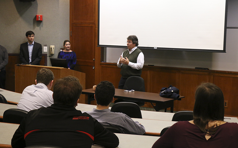 Students get the chance to explore the global financial information services sector of finance by attending an information session (and meet and greet)with MARKIT and Chip Carver '81