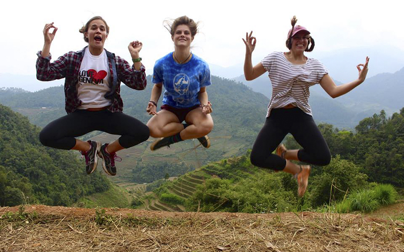 Attached is a picture of Abbey Foote, Sophie Richards, and Devon Webster (Union) in the mountains of Northwest Vietnam.ThanksAbbey Foote​