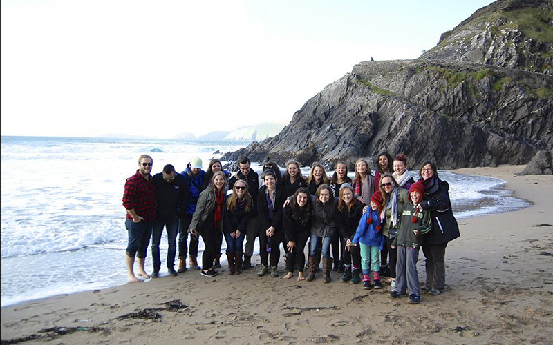 Attached is a photo of HWS and Union students on a group excursion to Kerry on the beautiful beaches of the Dingle Peninsula! Thought I'd share!