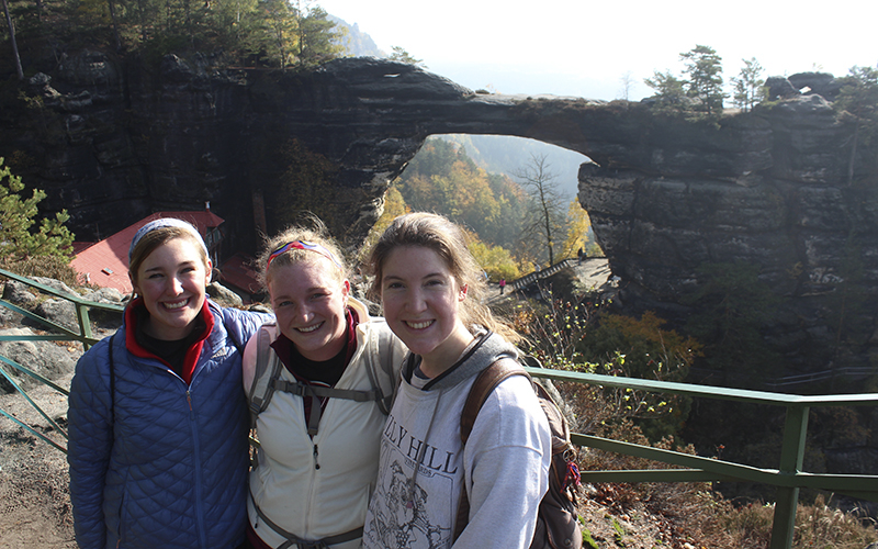 Madeline Boles (Brussels), Maddie Dietz (Prague), and Julianna Heffern (Prague) (class of 2017) Bohemian Switzerland National Park, The Czech Republic