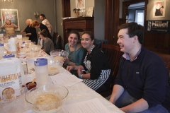 Students gather to bake Challah at the Abbe House for Jewish life.