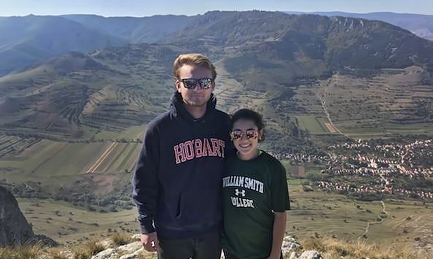 Reed Tansill '20 and Katie Consoli '20 pose during an excursion to Transylvania. The pair are studying abroad in Budapest, Hungary.