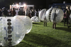 The class of 2019 enjoy the last event on their first day at HWS at JPR, the WS Hill and the Mini Quad. The students had the choice of several food trucks at each location as well as the giant hamster balls at the mini quad.