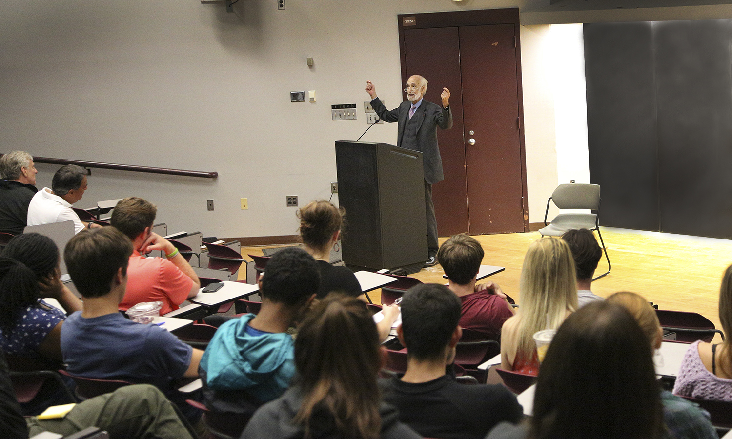In conjunction with Constitution Day, Martin Stolar discusses his career as a civil rights and criminal defense attorney in the Geneva Room.