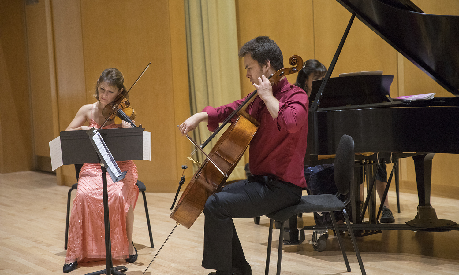 The Boston Trio kicks off the HWS Musical Artist series on Tuesday, Sept. 19, with violinist Irina Muresanu, cellist Jonah Ellsworth and pianist Heng-Jin Park.  Froelich Hall.