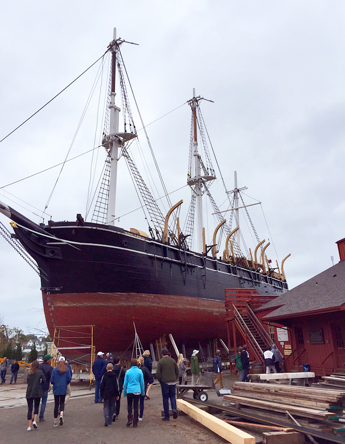 "Led by Assistant Professor of History Matthew Crow and Associate Professor of English Rob Carson, Students visit the New Bedford Whaling Museum and Mystic Seaport as part of the first year seminar, ""Moby-Dick""."