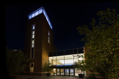 Gearan Center for the Performing Arts at night.