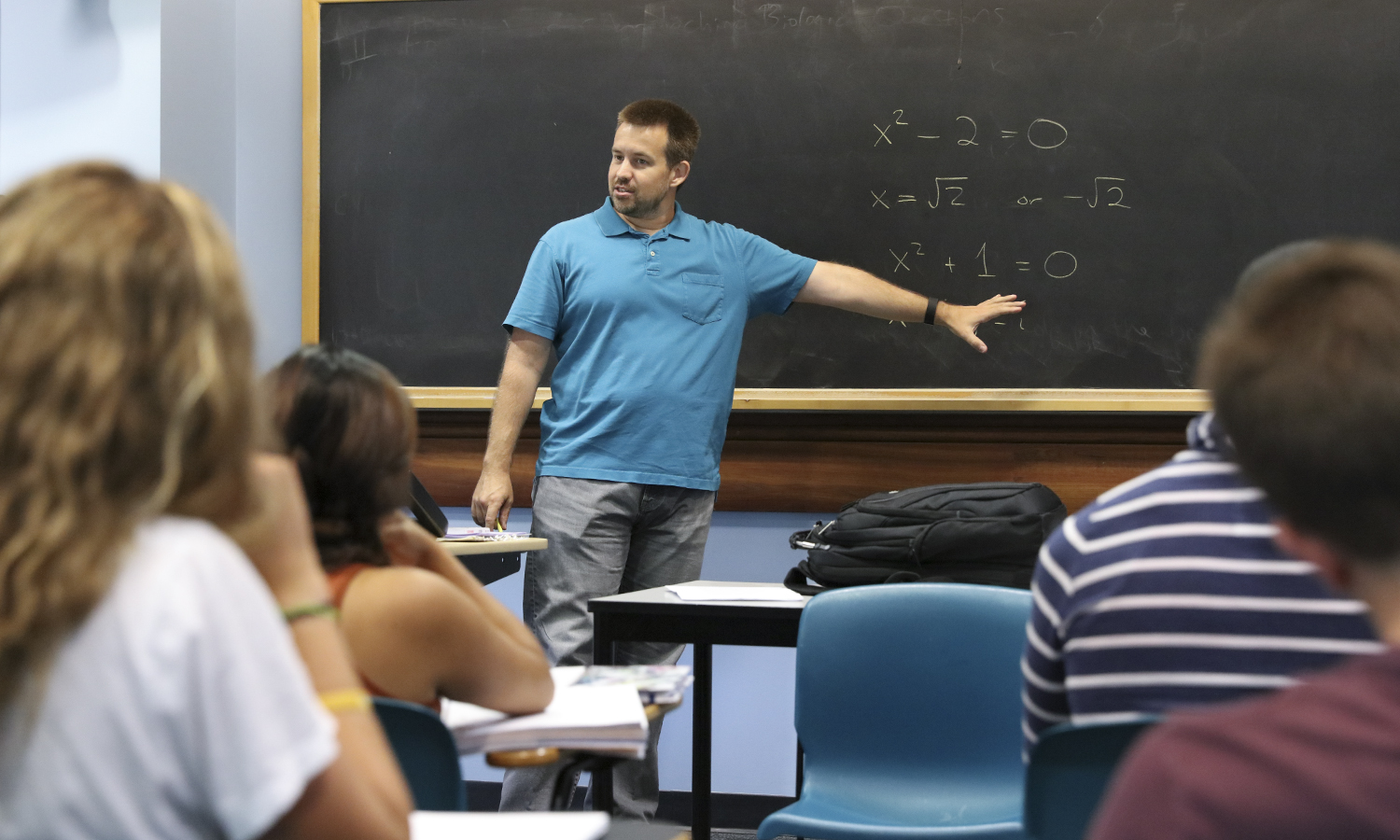 The class was Math 331, Foundations of Analysis. We were discussing set theory and number systems, which are the tools we use to understand the underpinnings of calculus. Jon Forde