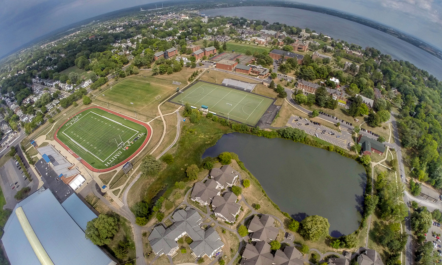 Paul 'P. Money' Ciaccia takes the drone up for a zesty picture of Odellski's pond.