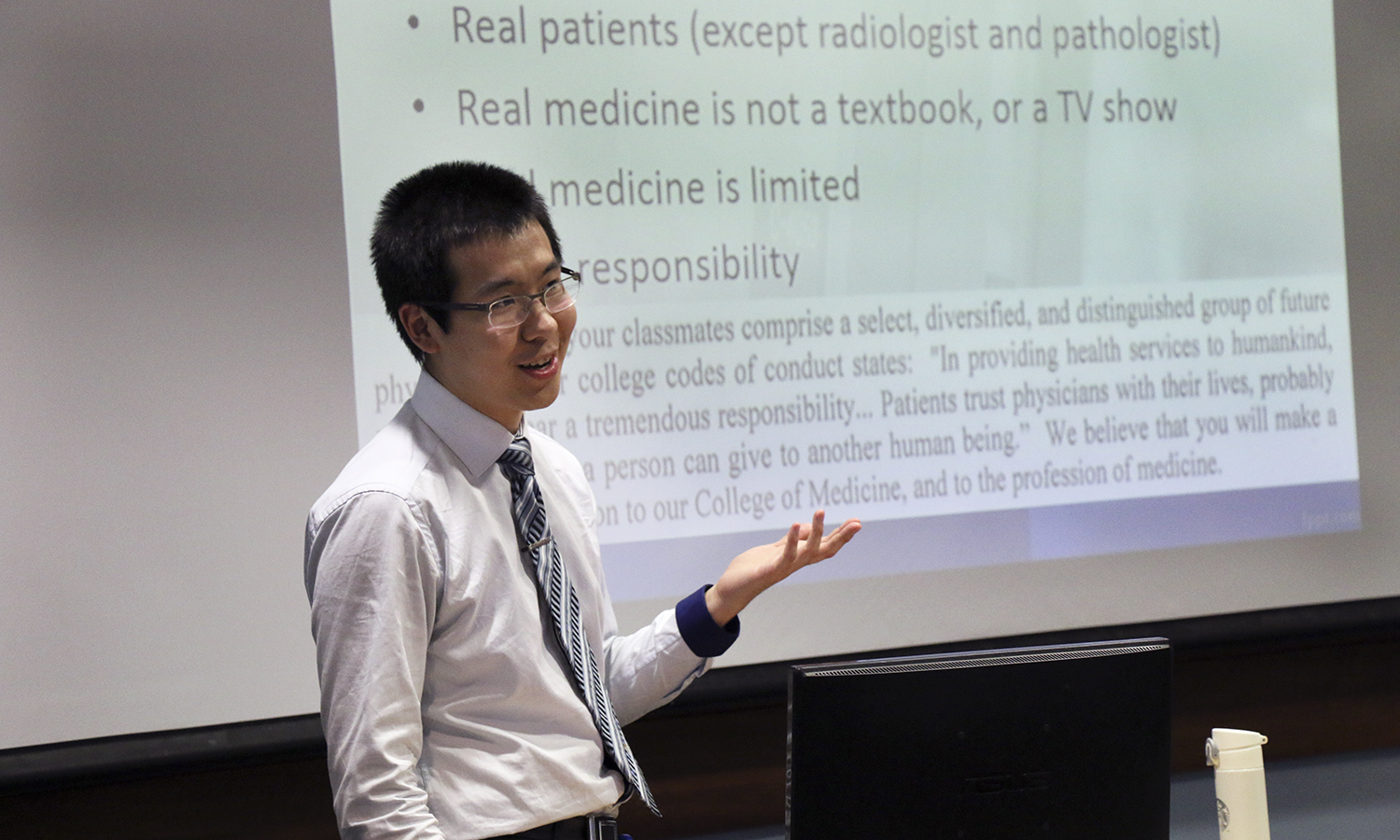 Guanqun Li '14 returns to HWS to share his journey from HWS to Medical School. He is currently a third year student at SUNY Upstate Medical University.
