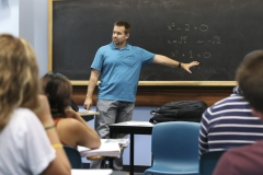 The class was Math 331, Foundations of Analysis. We were discussing set theory and number systems, which are the tools we use to understand the underpinnings of calculus.Jon Forde