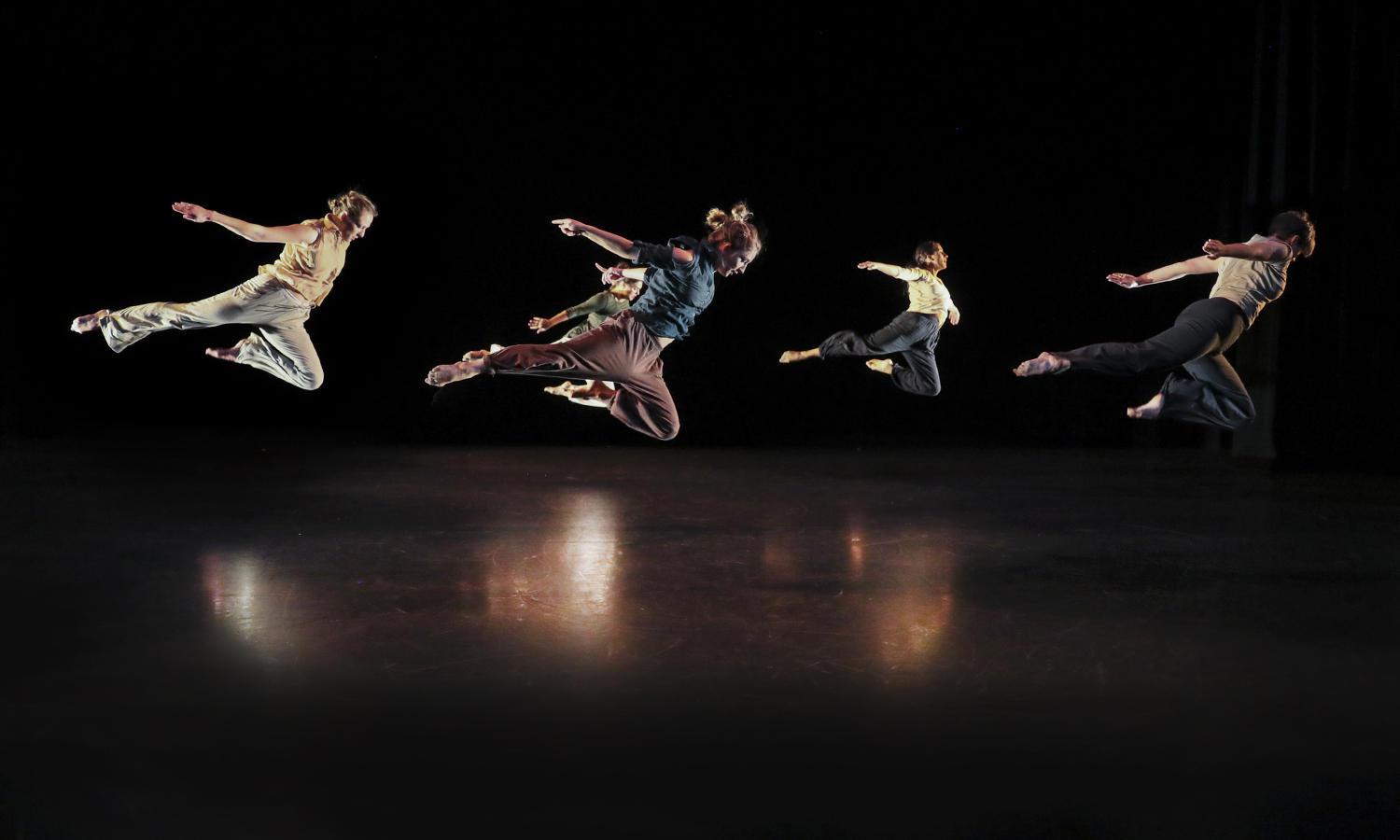 Members of the Kizuna Dance Company perform in Deming Theatre.