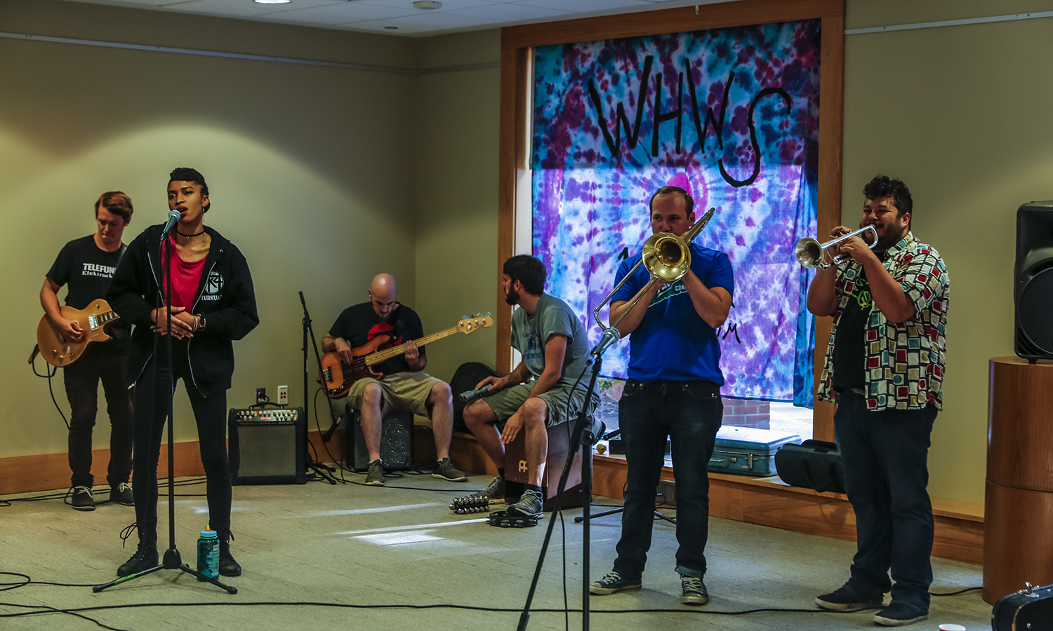 X plays in the Scandling Campus Center on Friday.