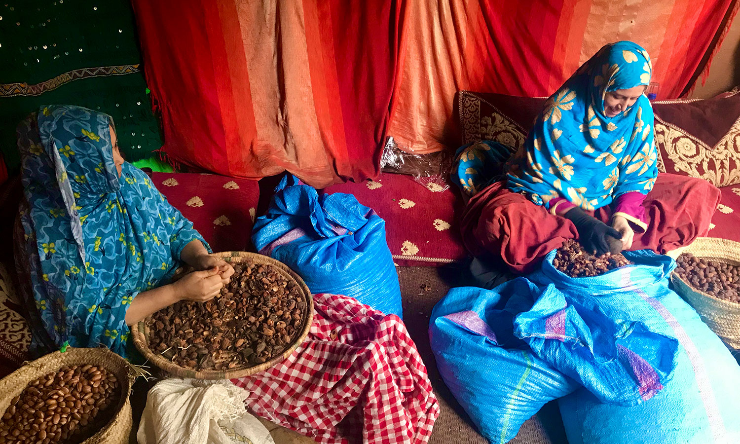 People's-Choice_1st-Place_Samantha-Buckenmaier_8.PC__Morocco__Women-shelling-argan-tree-shells-in-order-to-make-homemade-argan-oil