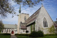 St. John's Chapel at 636 South Main Street was built in 1863 by architect Richard Upjohn, using funds gifted from Hobart trustee William B. Douglas. It is now used for on-campus events and Sunday services led by Chaplain Charles D. Maurice, head of the HWS Office of Religious Life.