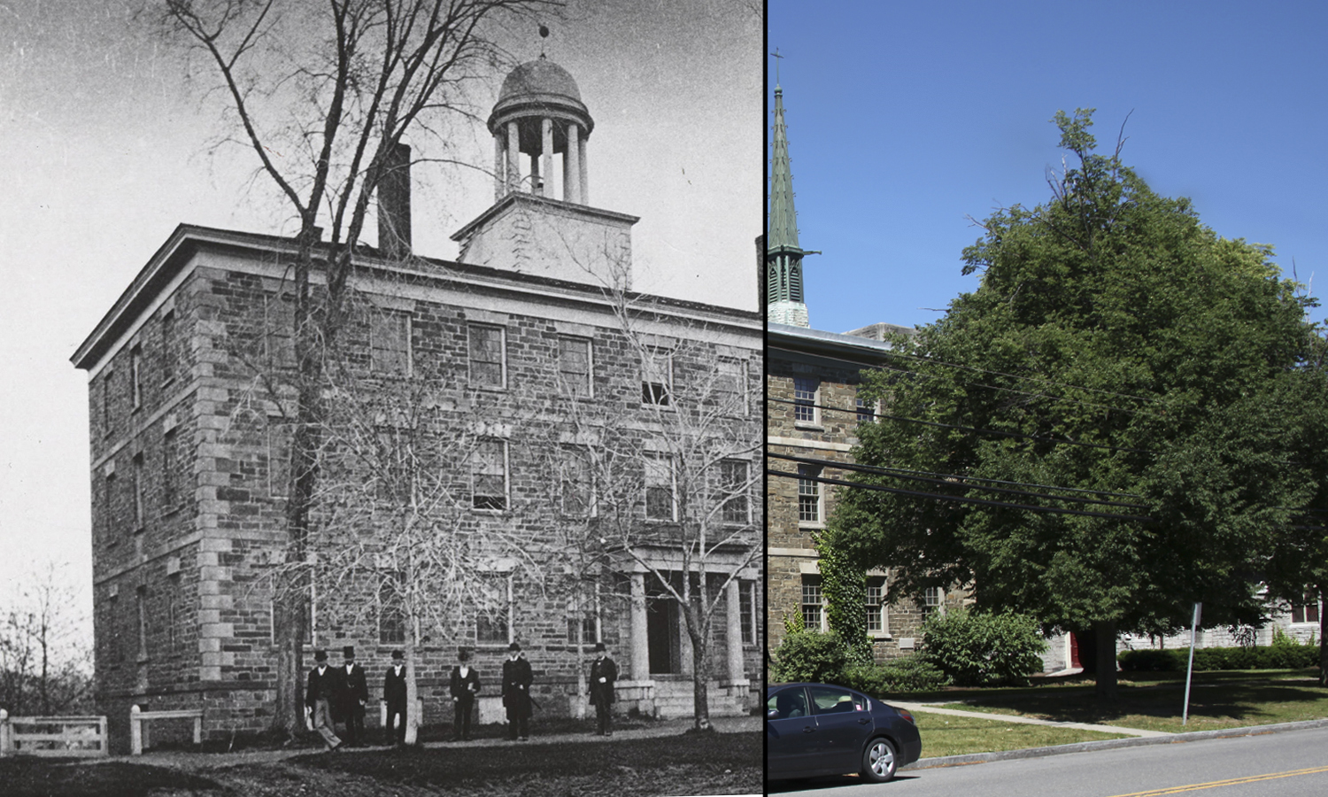 Geneva Hall, the college's first building, was constructed in 1822. Originally serving as classrooms, it is now used as an all-male residence hall.