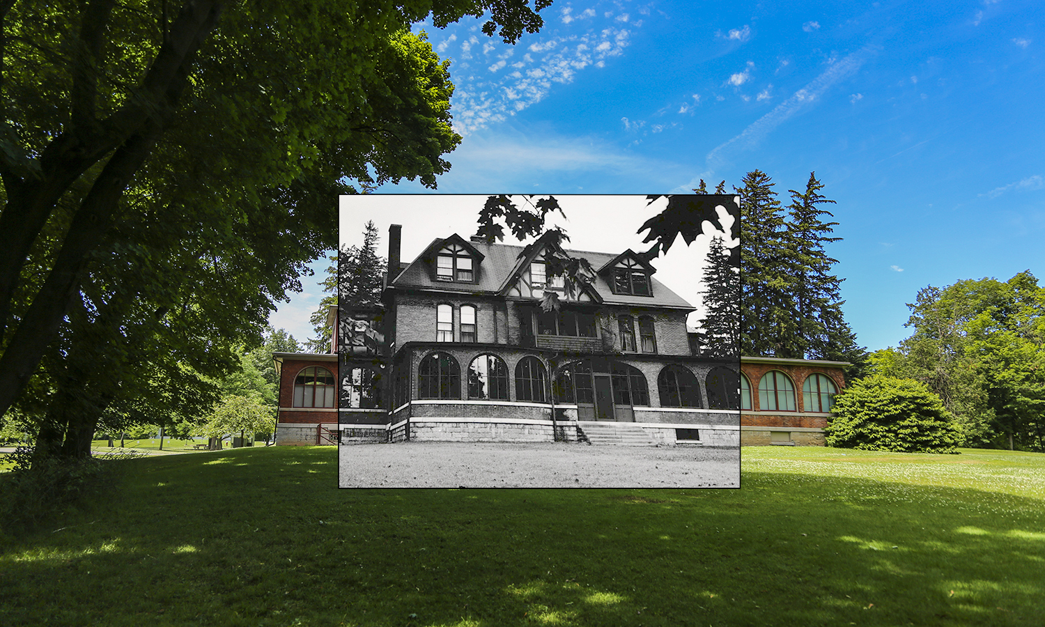 After its donation to the colleges from the Vail family, Housghton house was an all-female dorm until it's conversion into an Art and Architecture building in the 1980s.