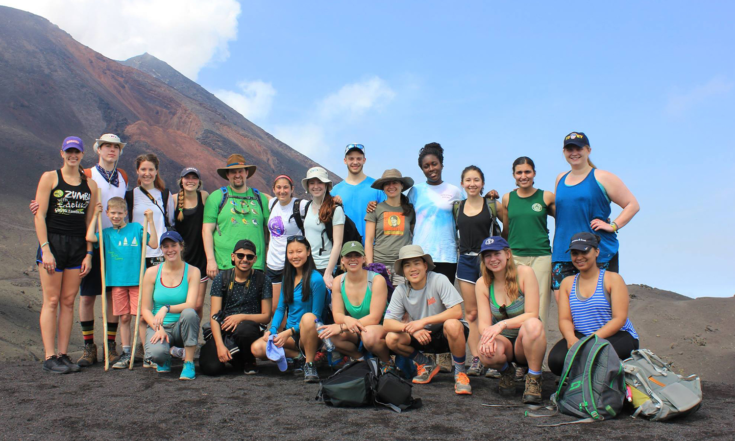 HWS students gather at the top of the Pacaya Volcano while studying abroad in Guatemala with Assistant Professor of Psychology Brien Ashdown and Associate Professor of Biology Meghan Brown. With the No. 1 study abroad program in the country according to Princeton Review, first-years are encouraged to attend information sessions hosted by the Center for Global Education.