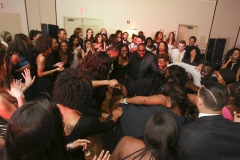 Students dance at the Ramada Geneva Lakefront during the annual Charity Ball. Members of Sankofa raised more than $2,000 for scholarships for local high school students.â