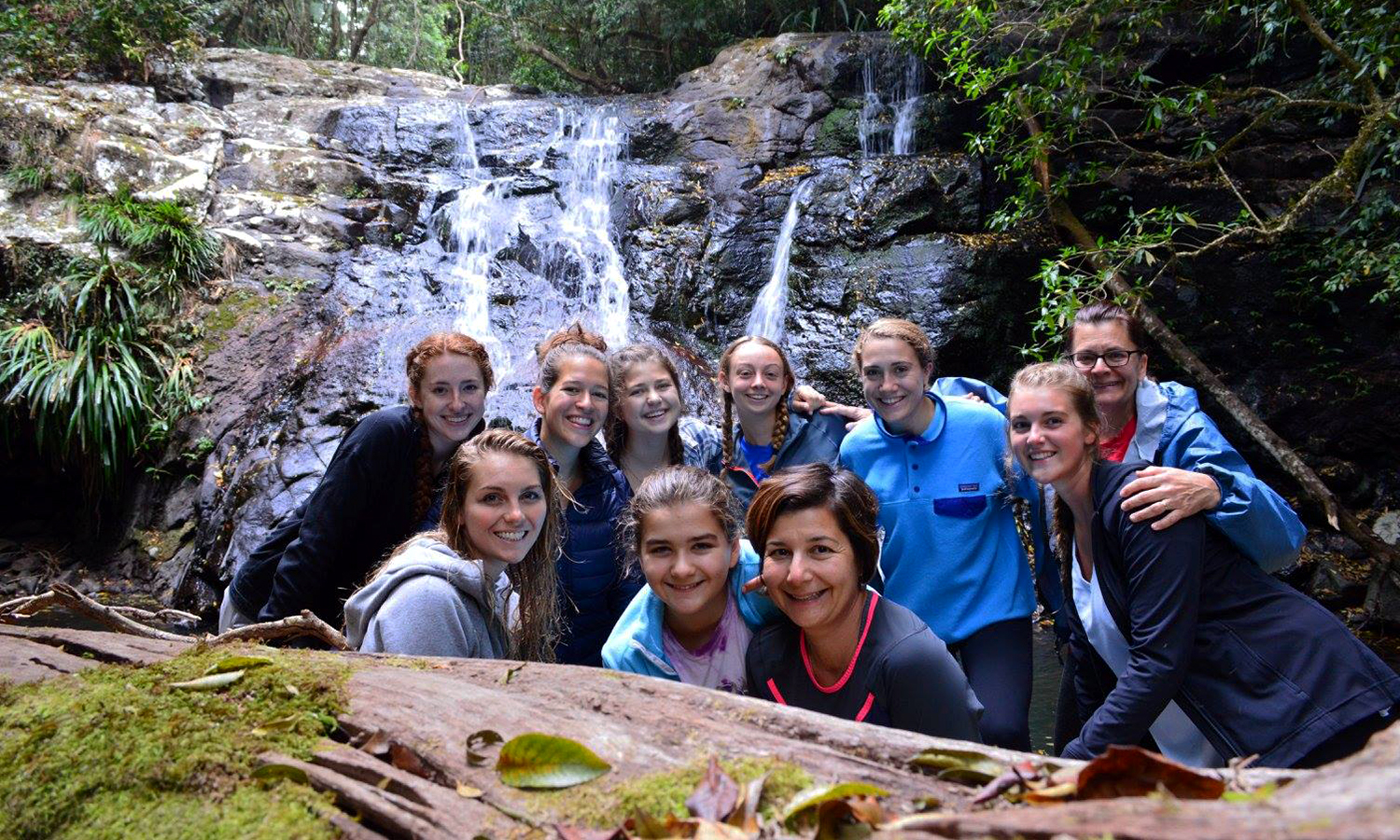 Students from HWS and Union College visit Lamington National Park while studying in Brisbane, Australia.