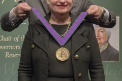 Janet Yellen, the 15th Chair of the Federal Reserve, receives the Blackwell Award.