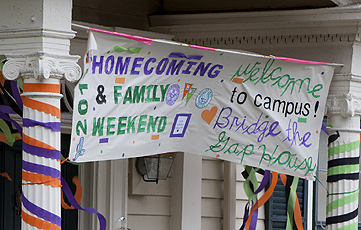 Frat and Theme House Decorating contest for Homecoming and parents weekend.