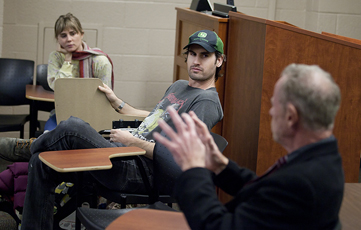 Mark Neveldine'95 and Alison Lohman in Holly's class