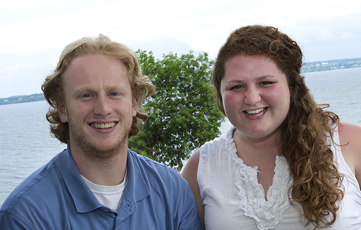 2012 Orientation Leaders Sean Peer and Nell Crossman