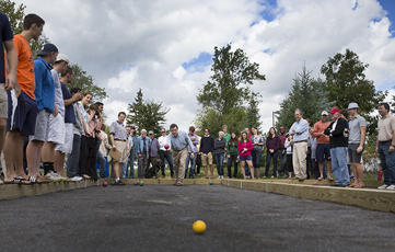 First Bocce Tournament held on new courts. 16 teams participated.