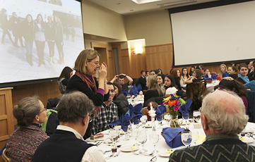 Shabbat 200, Hillel, Vandervort Room, Lorinda Weinstock, director of the Abbe Center for Jewish Life and advisor to Hillel