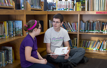 DeBenedetto Charlie, America Reads, at Lafayette School Waterloo