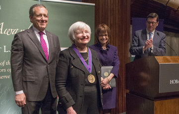 Yellen To Receive HWS Blackwell Award - Hobart And William ...