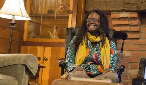 "Visiting Professor Elana Jefferson-Tatum of Africana Studies gives her fireside chat titled ""Between Two Worlds:  Navigating Vodun as a  Scholar-Practitioner"""