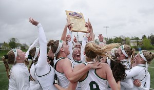 The William Smith College lacrosse team secured its second straight and fourth overall Liberty League tournament championship with a 14-4 win over Skidmore College Saturday on Boswell Field.