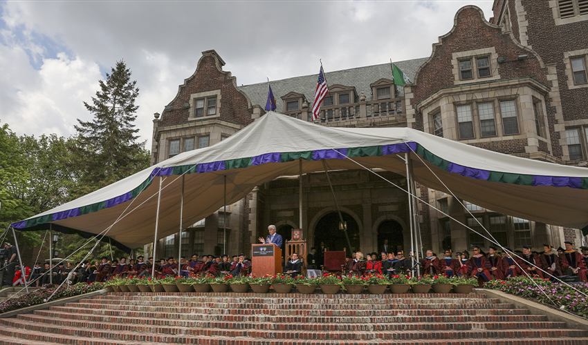 During the 192nd Commencement of Hobart College and the 106th Commencement of William Smith College President Bill Clinton encouraged graduates to u201crelish ... & Clinton: Our Common Humanity - Hobart and William Smith Colleges