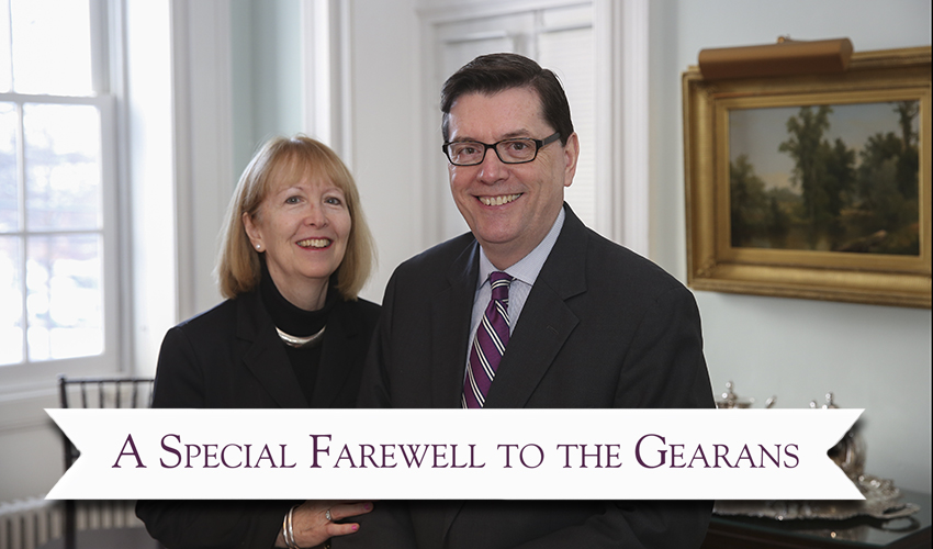 Mark Gearan and Mary Gearan in home portrait