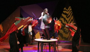 "Samantha Shaffner '17 performs in ""She Kills Monsters."""