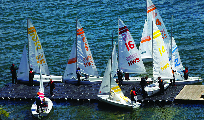 Spencer Tulis / Finger Lakes Times Though Hobart and William Smith Colleges ened its school year Sunday with graduation ceremonies, two sports continue on with their athletic endeavors a little while longer- sailing and women's lacrosse. The boats were on Seneca Lake practicing Monday.