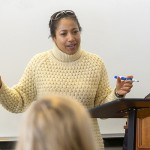 Minott-Ahl Nicola teaches English in Gulick Hall