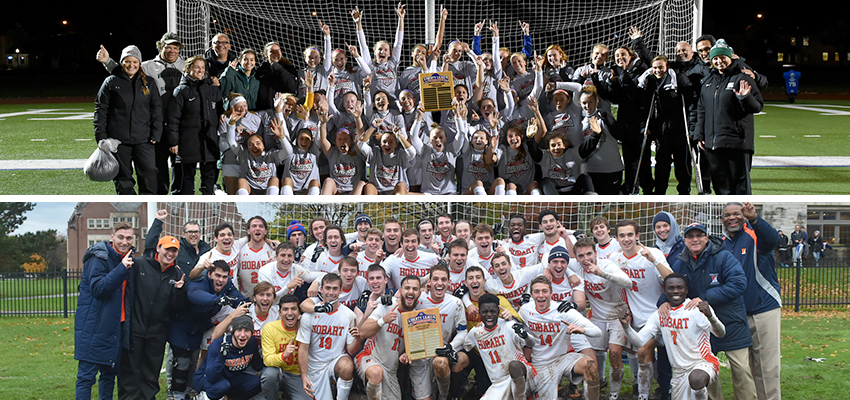 Hobart and William Smith Colleges - HWS soccer teams Win