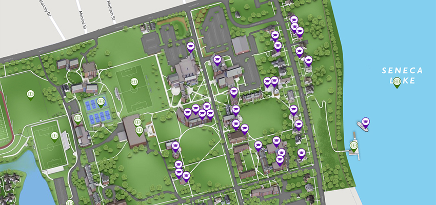Hobart And William Smith Campus Map.Hws Launches Interactivemap And Virtual T Hobart And William Smith