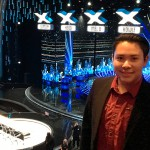 William Samayoa '19 visits the set of America's Got Talent as part of his internship with the Academy of Motion Picture Arts.