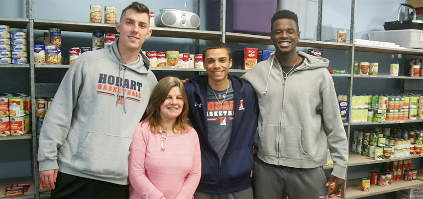 Hobart Hoops Food Drive