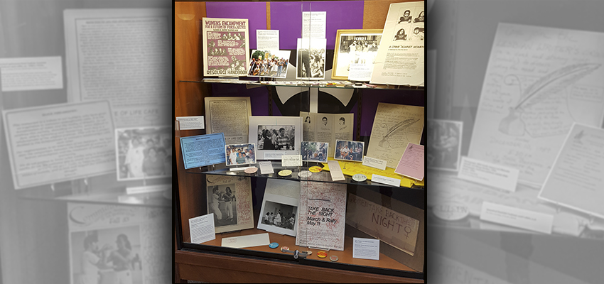 "The ""Stonewall: 50 Years Out"" display at the Rochester Public Library."