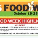 Food Week schedule poster19