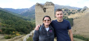 Meller and Henry Livingston '20 gather for a photo during an excursion to Transylvania.
