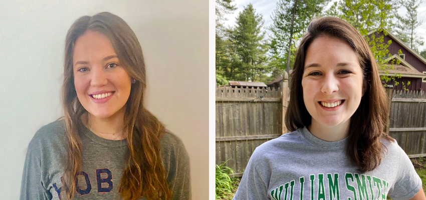 Alta Markley '17 (left) and Alexandra Belden '15 received Success Academy's Excellence in Education awards.