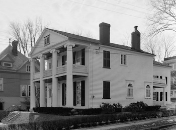 Originally, the President's House had a porch on the second floor. It was removed at an unknown date in its history.