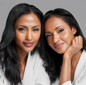 Left to right: 2.4.1 Cosmetics co-founders Feven and Helena Yohannes