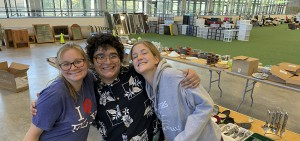 In a typical year, the HWS Community Sale is held in the Geneva Recreation Complex. Student volunteers help organize and run the sale.